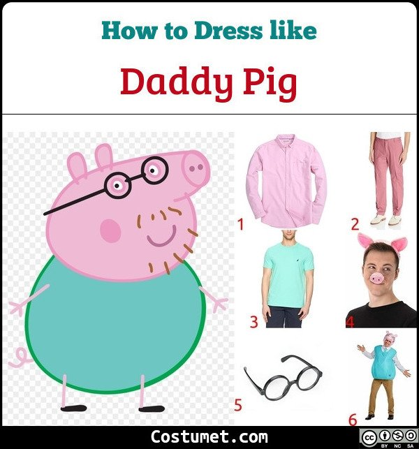 Daddy Pig Costume for Cosplay & Halloween