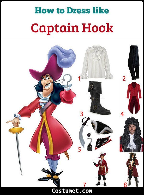 Captain Hook Costume for Cosplay & Halloween