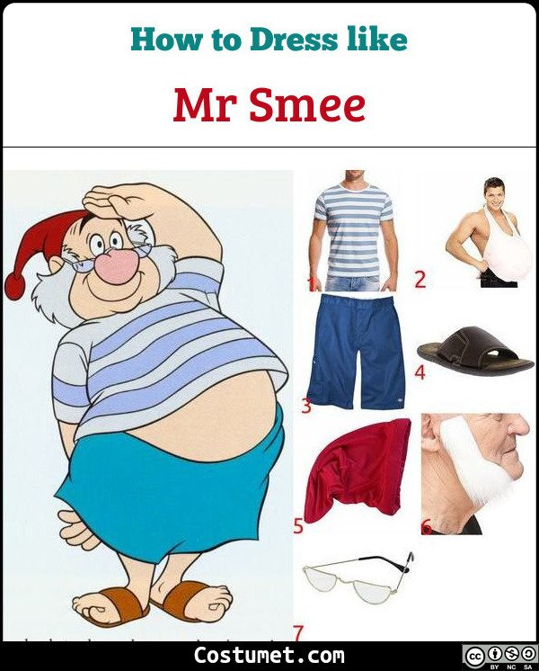 Mr Smee Costume for Cosplay & Halloween