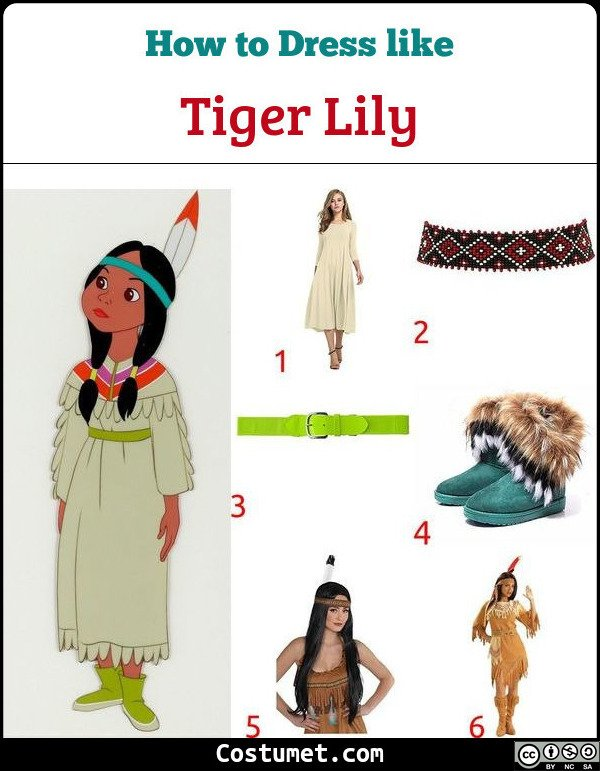 Tiger Lily Costume for Cosplay & Halloween