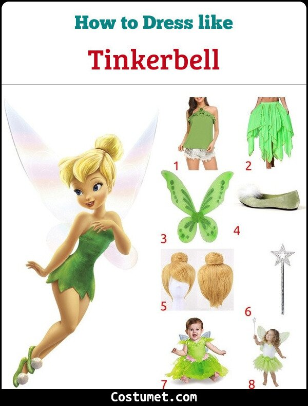 Tinkerbell Costume for Cosplay & Halloween