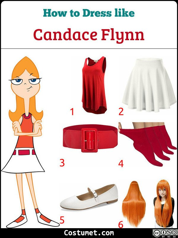Candace Flynn Costume for Cosplay & Halloween