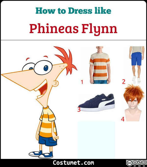 Phineas Flynn Costume for Cosplay & Halloween