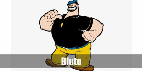 Bluto costume is a belly stuffing, a black polo shirt, and yelloe pants. You can also get a sailor hat and fake facial hair to complete the costume.