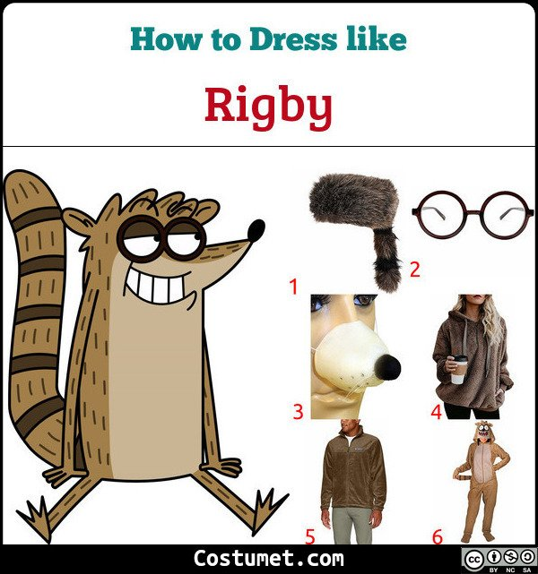 Rigby from Regular Show Costume for Cosplay & Halloween