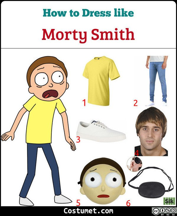 Morty Smith Costume for Cosplay & Halloween