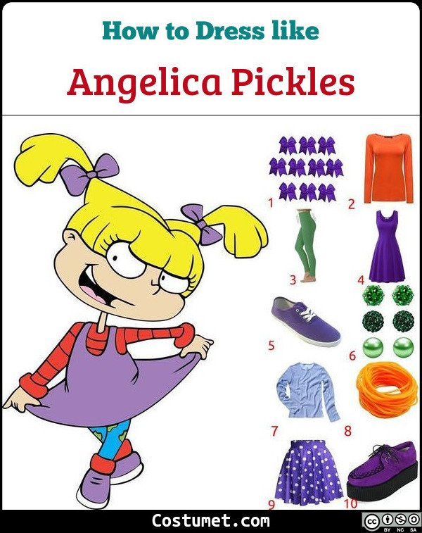 Angelica Pickles Costume for Cosplay & Halloween
