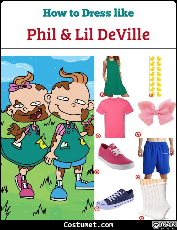 Phil And Lil Deville Costume for Cosplay & Halloween