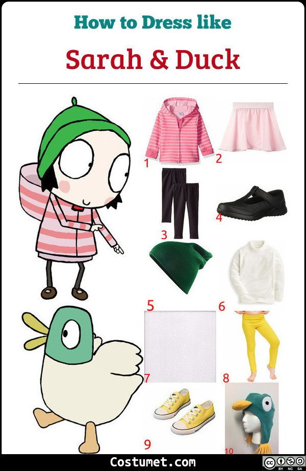 Sarah And Duck Costume for Cosplay & Halloween