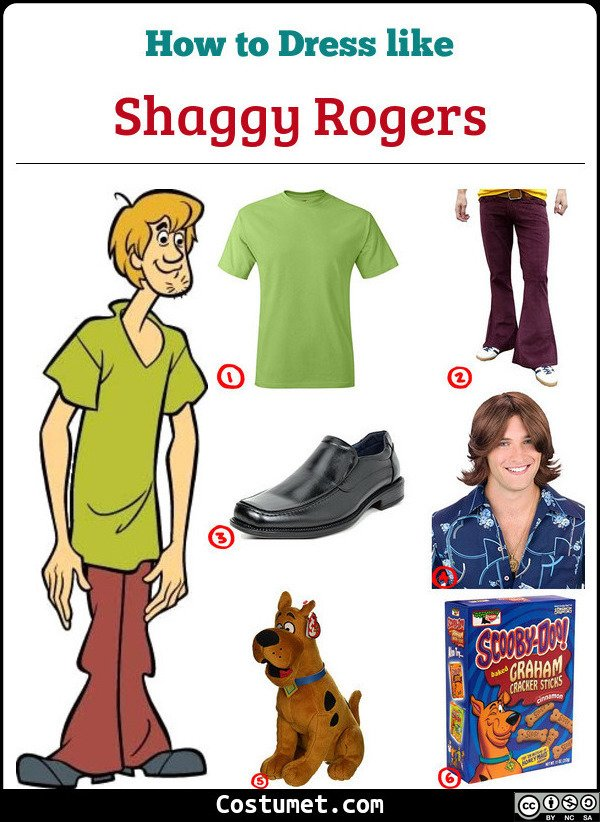 Shaggy Rogers Costume for Cosplay & Halloween