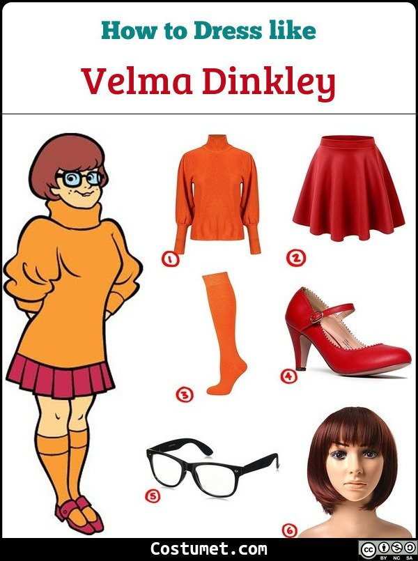 Dress Like Velma Dinkley From Scooby Doo Costume For Cosplay Halloween