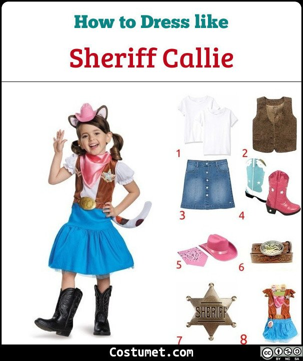 Sheriff Callie Costume for Cosplay & Halloween