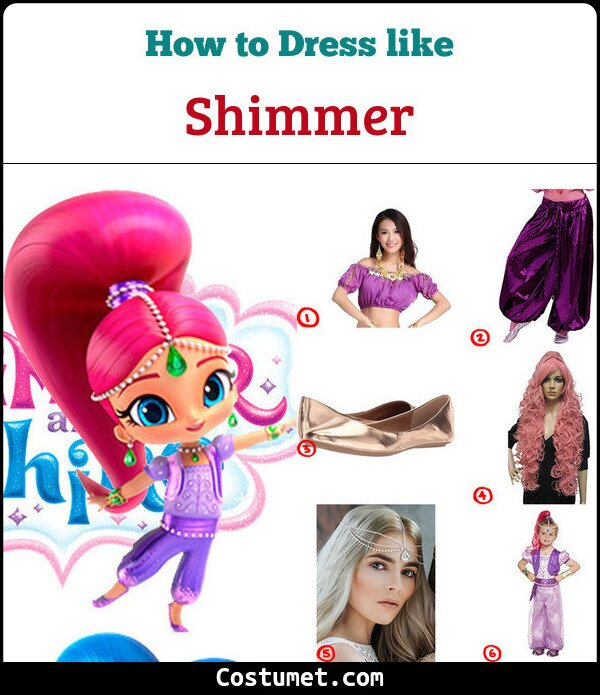 Shimmer And Shine Costume for Cosplay & Halloween