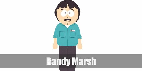 Randy Marsh's costume is notable for its teal-colored shirt and dark pants and shoes. You can wear a mask that resembles his face to complete the costume.