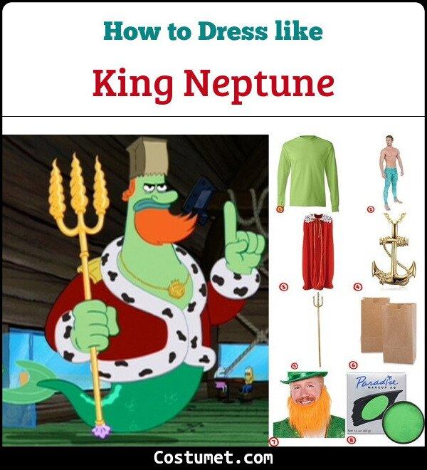 King Neptune Costume for Cosplay & Halloween