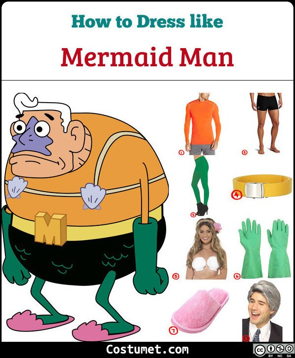 Mermaid Man Costume for Cosplay & Halloween