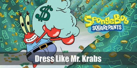 Mr. Krabs is seen wearing a light blue shirt and belted blue pants for the entirety of the series. Here's everything you need to look like Mr. Krabs