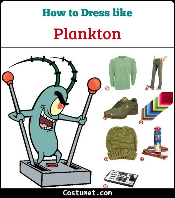 Plankton from Spongebob Squarepants costume Guide