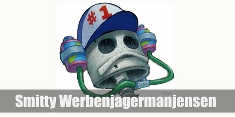 Smitty Werbenjagermanjensen looks like a long-dead fish, meaning he only looks like a skeleton now and wearing the #1 Soda Hat on, so there's that