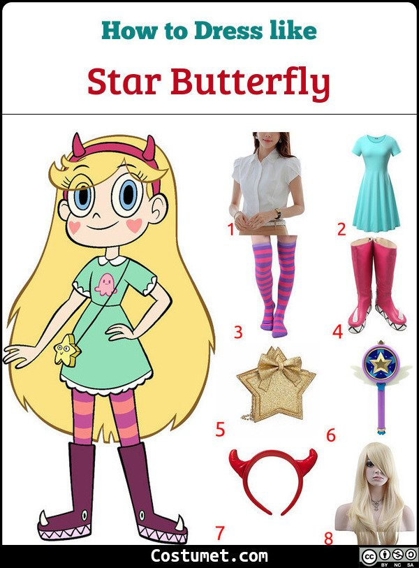 Star Vs The Forces Of Evil Costume for Cosplay & Halloween