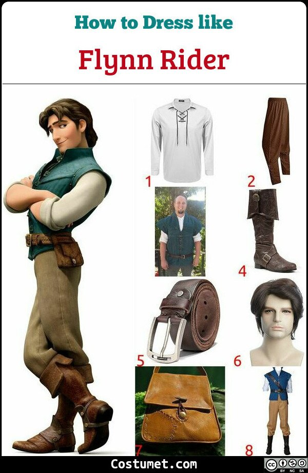 Flynn Rider Costume for Cosplay & Halloween