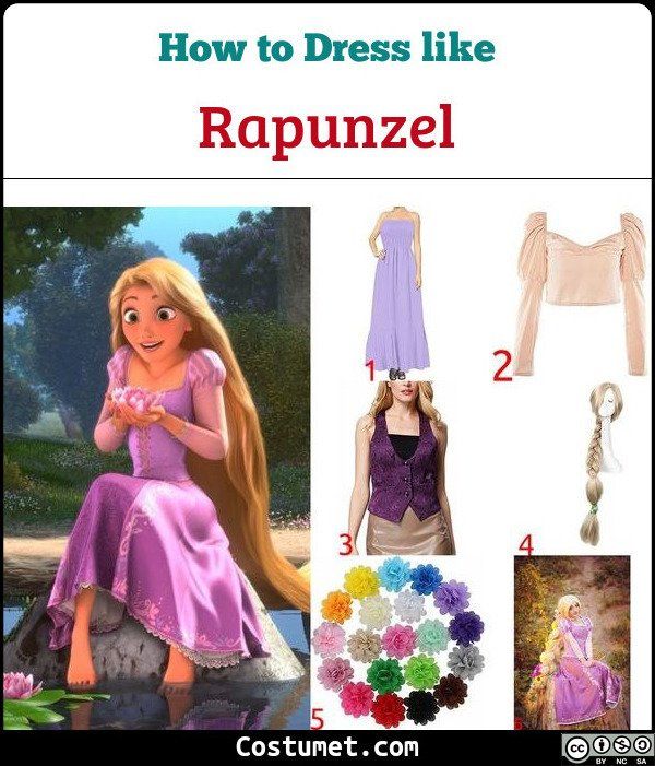 Rapunzel Costume for Cosplay & Halloween