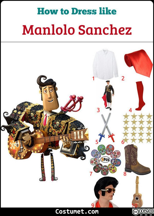 Manolo Sanchez Costume for Cosplay & Halloween