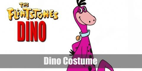 To dress like dino, you'll definitely have to in touch with your artistic side to craft or simplify the whole process and get the actual costume. After all, Dino is a pink dinosaur with black spots on his back