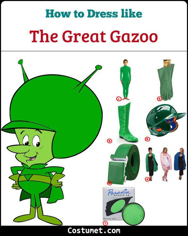 The Great Gazoo Cosplay & Costume Guide