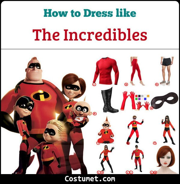 The Incredibles Costume for Cosplay & Halloween