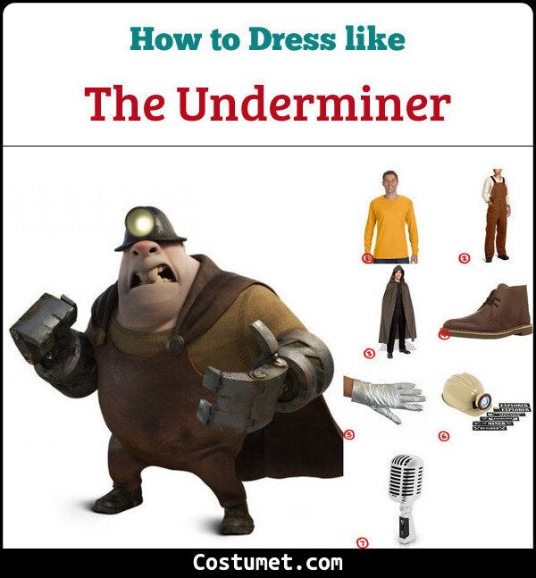 The Underminer Costume for Cosplay & Halloween