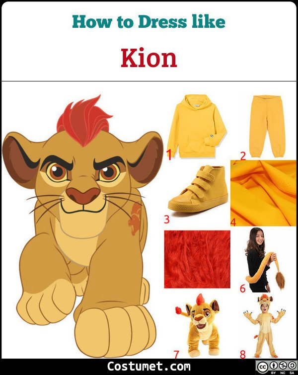 Kion The Lion Guard Costume for Cosplay & Halloween