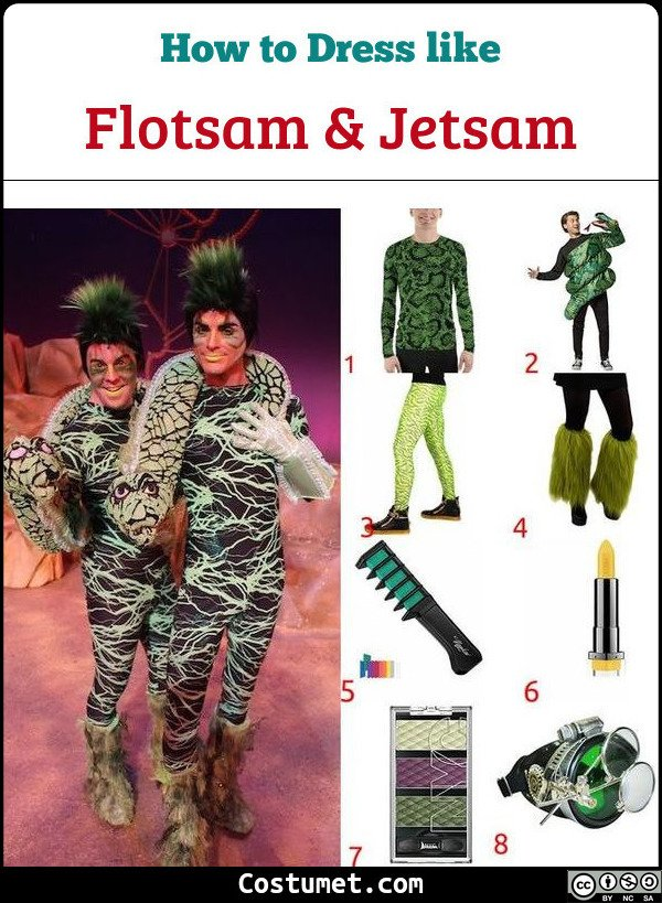 Flotsam And Jetsam Costume for Cosplay & Halloween