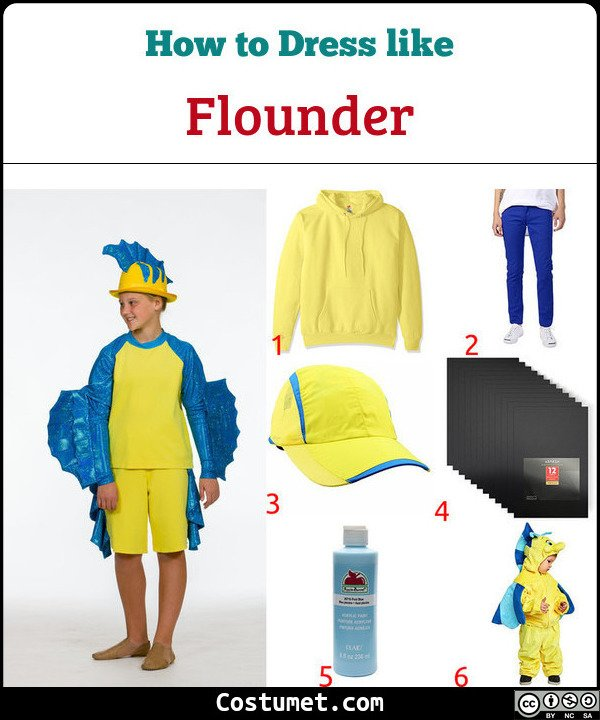 Flounder Costume for Cosplay & Halloween