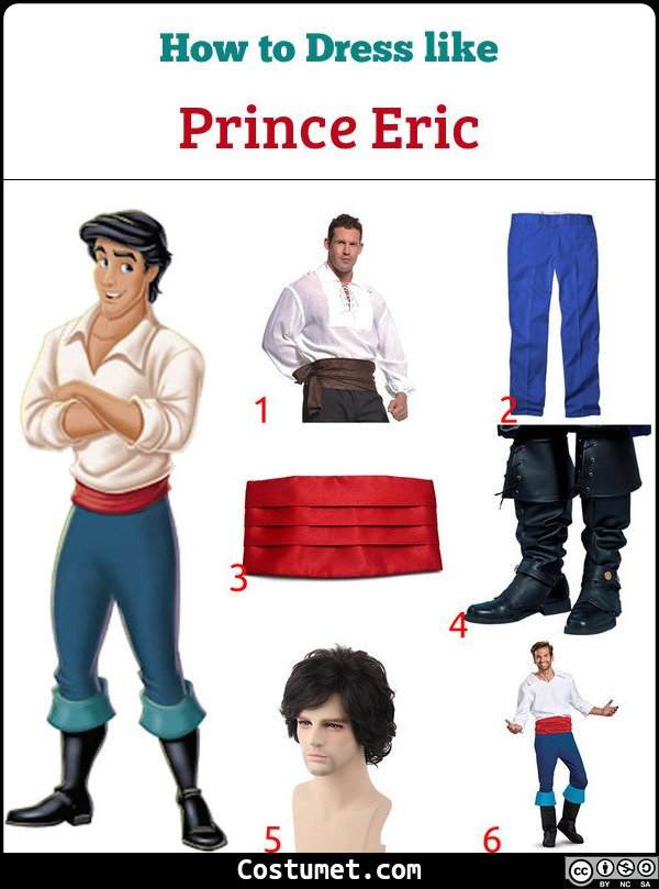 Prince Eric Costume for Cosplay & Halloween