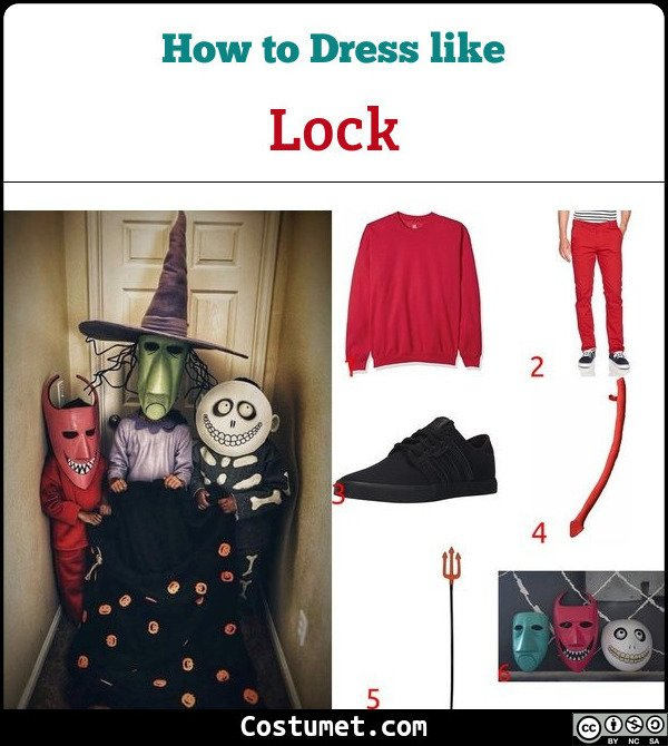 Lock Costume for Cosplay & Halloween