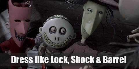 Lock Shock & Barrel (Nightmare Before Christmas) Costume