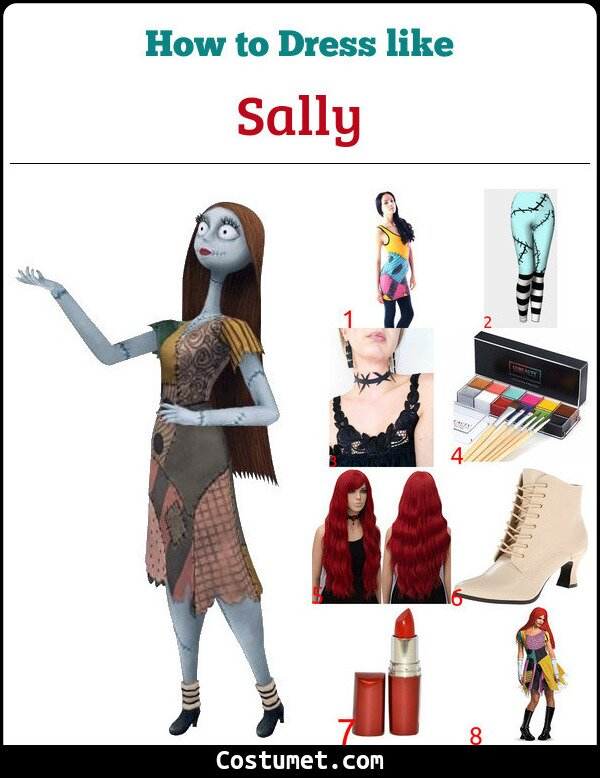 Sally Costume for Cosplay & Halloween