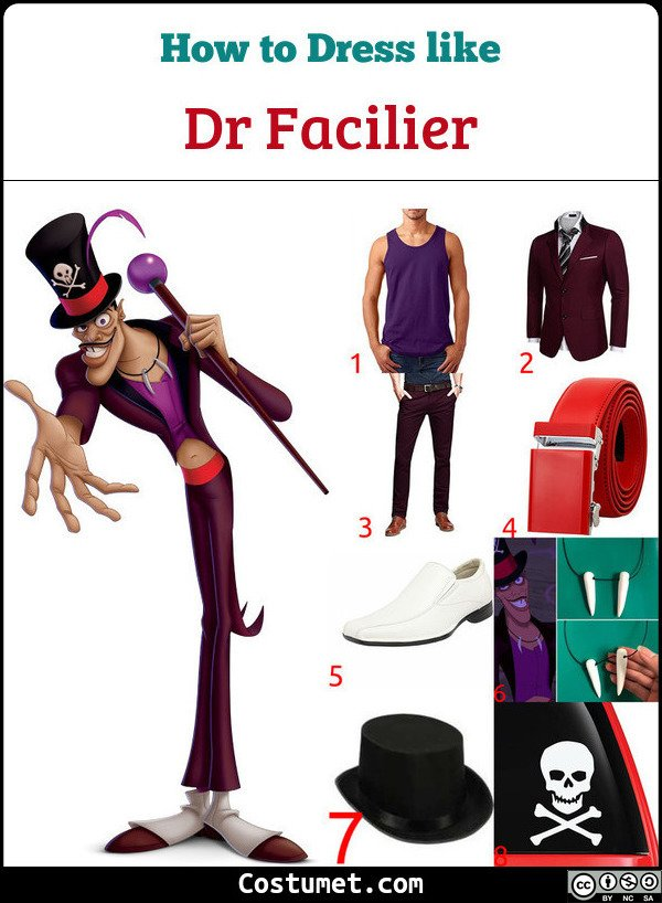 Dr Facilier Costume for Cosplay & Halloween