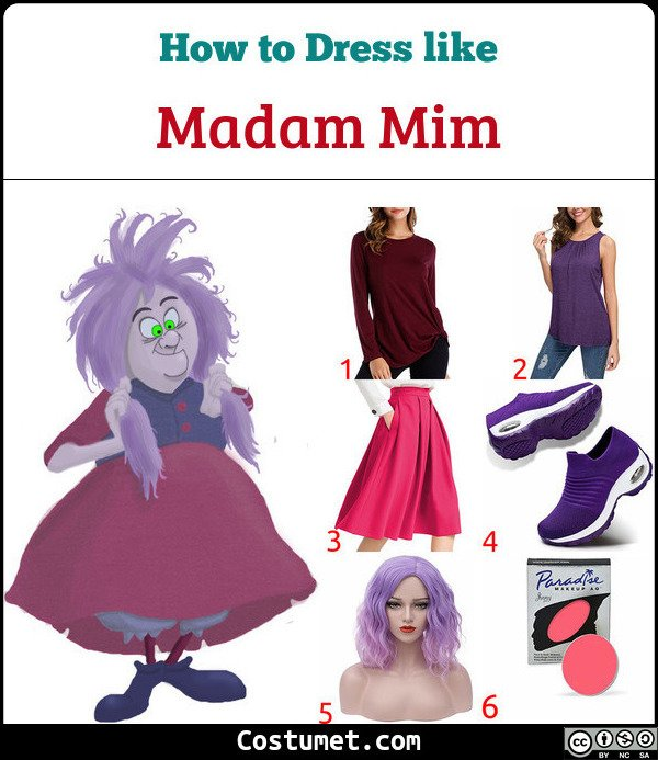 Madam Mim form The Sword In The Stone Costume for Cosplay & Halloween