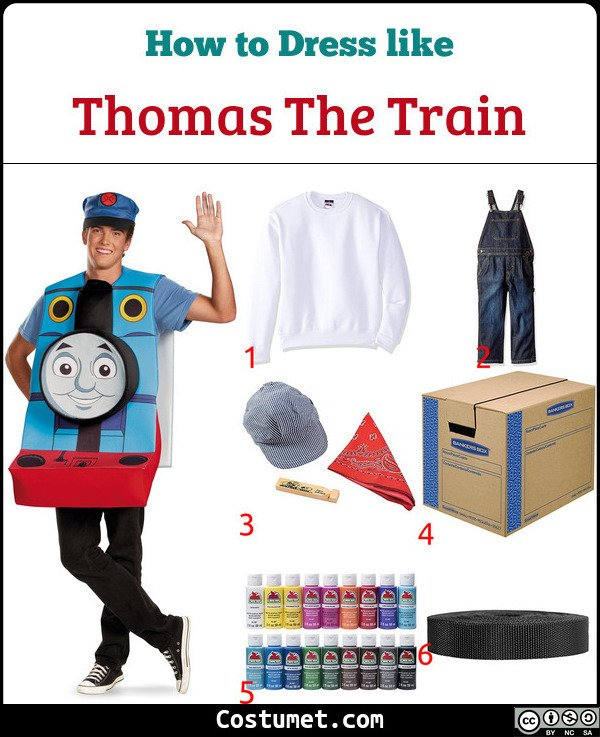 Thomas The Train Costume for Cosplay & Halloween