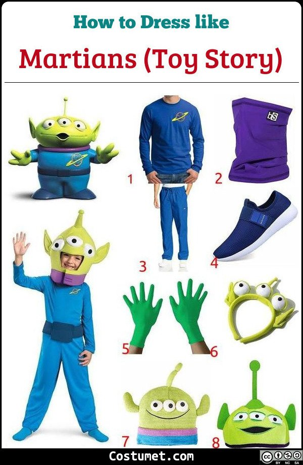 Martians (Toy Story) Costume for Cosplay & Halloween