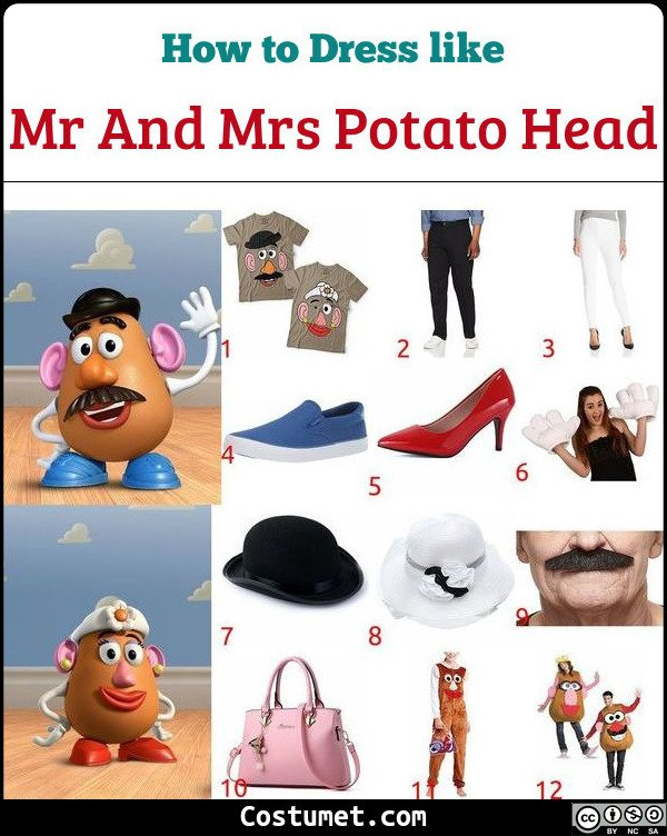 Mr And Mrs Potato Head Costume for Cosplay & Halloween