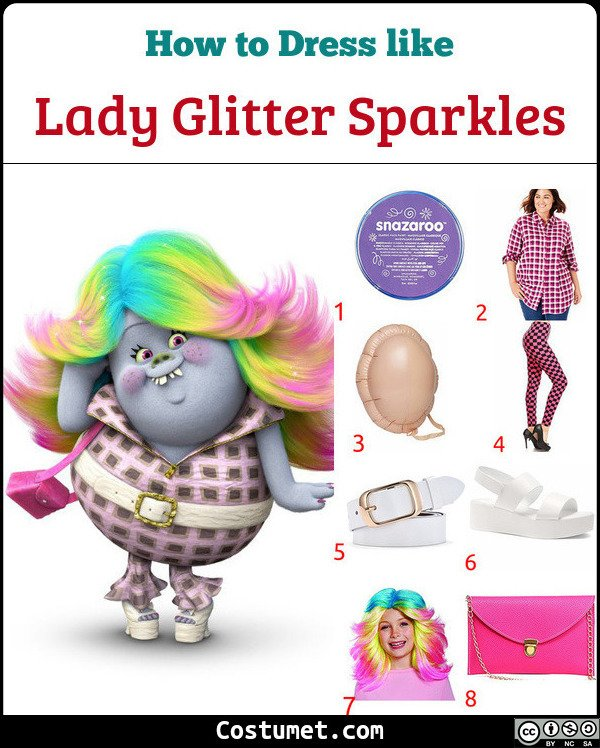 Lady Glitter Sparkles Costume for Cosplay & Halloween