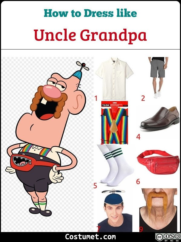 Uncle Grandpa Costume for Cosplay & Halloween
