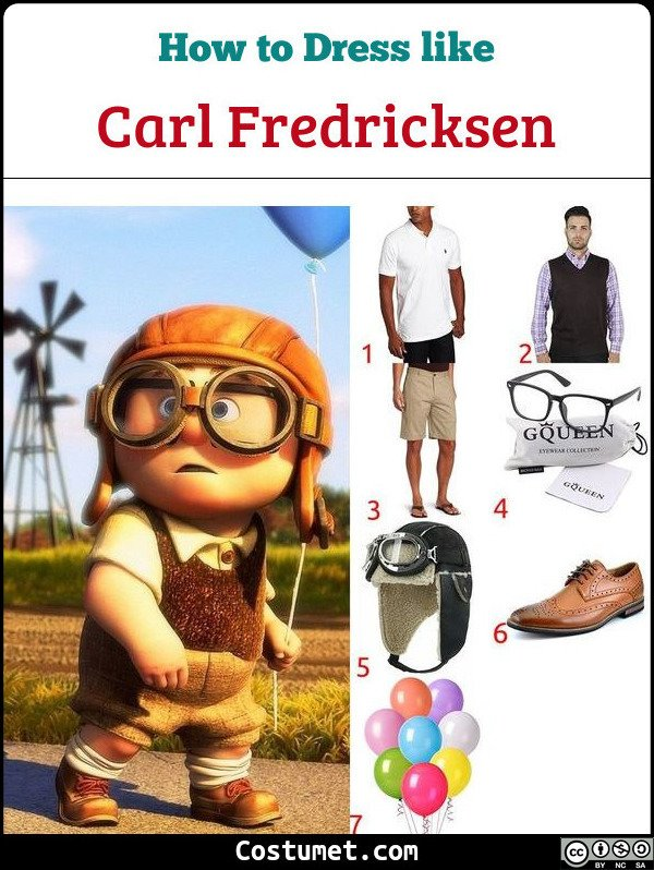 Carl Fredricksen Costume for Cosplay & Halloween