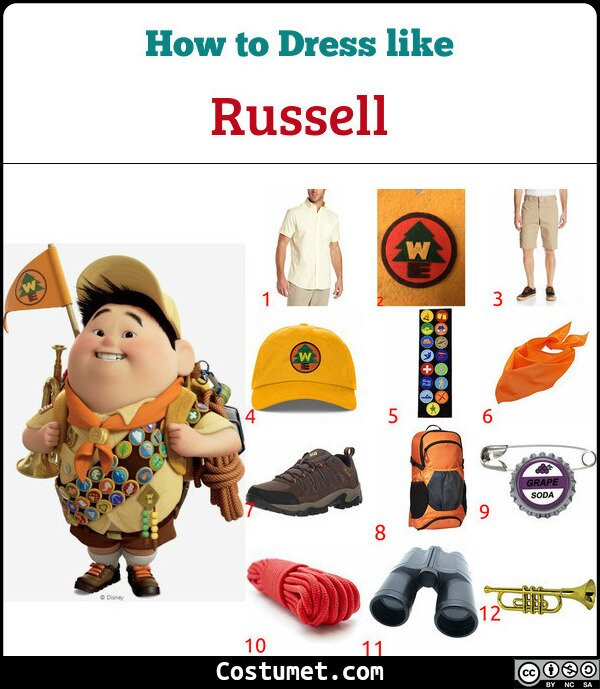 Russell Costume for Cosplay & Halloween