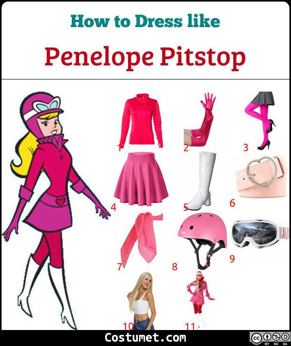 Penelope Pitstop Costume for Cosplay & Halloween
