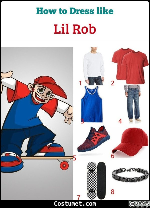 Lil Rob Wild Grinders Costume for Cosplay & Halloween