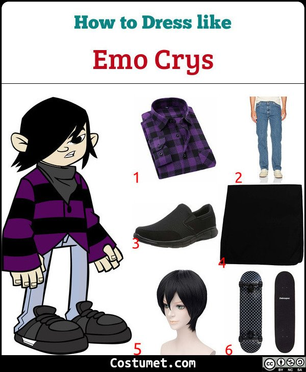 Emo Crys Wild Grinders Costume for Cosplay & Halloween